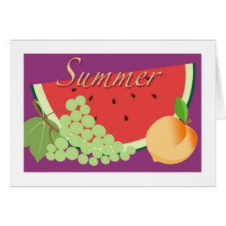 Festival de las frutas del verano tarjeta pequeña