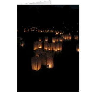 Festival de linterna tarjeta de felicitación