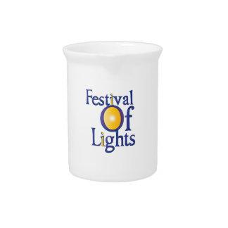 Festival de luces jarras de beber