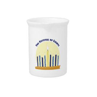 Festival de luces jarra de beber