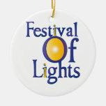 Festival de luces ornamento de reyes magos