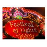 Festival de luces tarjetas postales