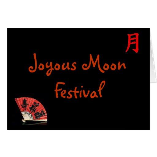 Festival de luna feliz tarjeta de felicitación