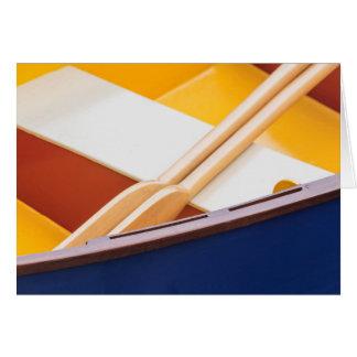 Festival de madera 2 del barco de la isla de tarjeta de felicitación