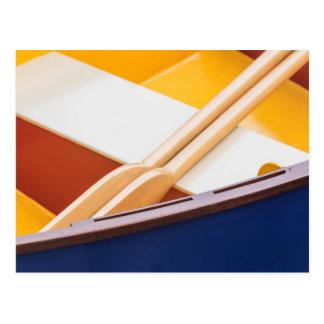 Festival de madera 2 del barco de la isla de tarjeta postal