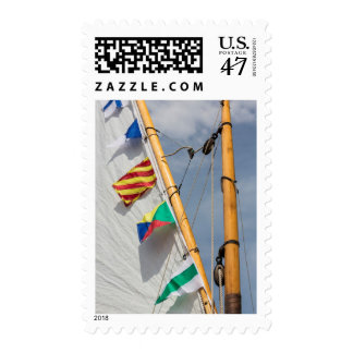 Festival de madera 3 del barco de la isla de sellos postales