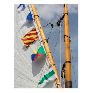 Festival de madera 3 del barco de la isla de tarjeta postal