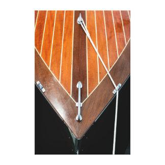 Festival de madera del barco de la isla de impresiones en lona
