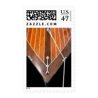 Festival de madera del barco de la isla de sellos postales