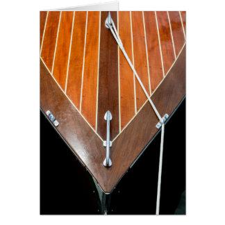 Festival de madera del barco de la isla de tarjeta de felicitación