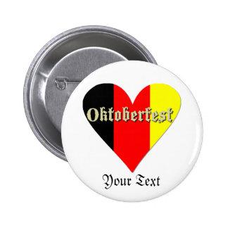 Festival de Oktoberfest en el botón de la insignia Pin