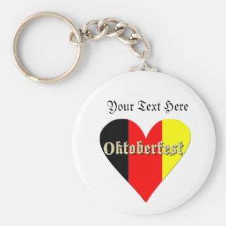 Festival de Oktoberfest en llavero del corazón de