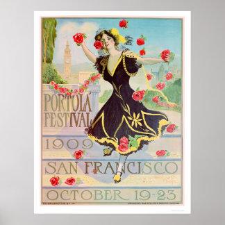 Festival de Portola en San Francisco 1909 Póster