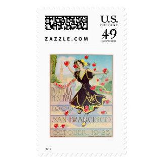 Festival de Portola en San Francisco 1909 Timbre Postal