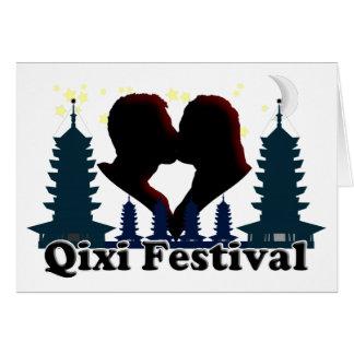 Festival de Qixi - el día de San Valentín chino Tarjeta Pequeña