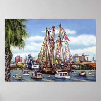 Festival de Tampa la Florida Gasparilla Poster