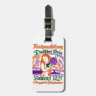 Festival de vino de 1925 alemanes etiqueta para maleta
