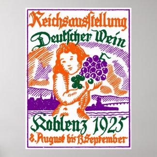 Festival de vino de 1925 alemanes póster