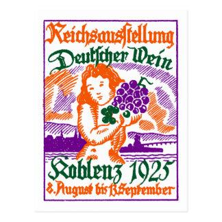Festival de vino de 1925 alemanes tarjeta postal