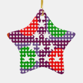 Festival Decorations: Star Moon Sparkle Ceramic Ornament