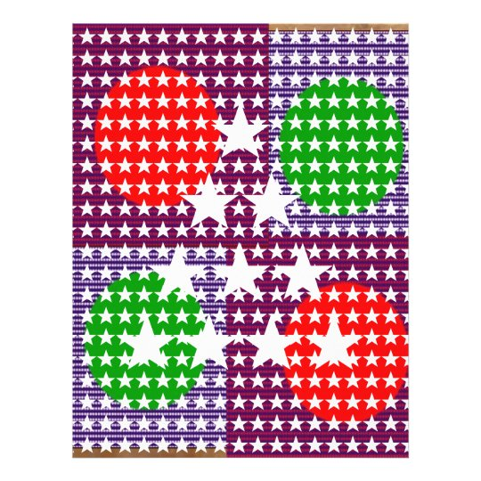 Festival Decorations: Star Moon Sparkle Letterhead
