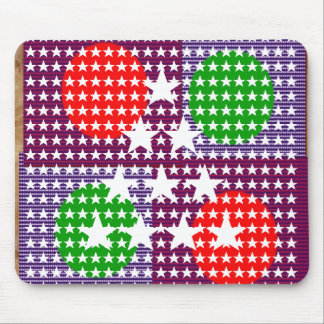 Festival Decorations: Star Moon Sparkle Mouse Pad
