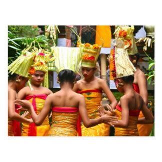 Festival del esmero del templo del Balinese Tarjetas Postales