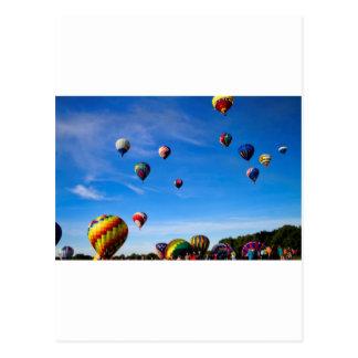 Festival del globo del aire caliente postal