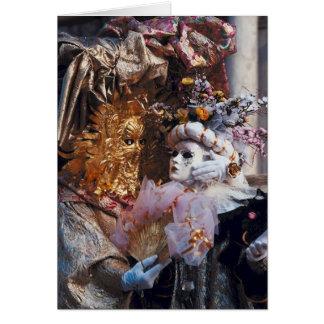 Festival del italiano del ~ de la máscara del carn tarjetas