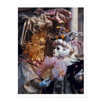 Festival del italiano del ~ de la máscara del postal