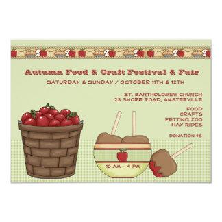 Festival del otoño y invitación justa invitación 12,7 x 17,8 cm