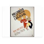 Festival del patinaje sobre ruedas de Halloween Tarjetas Postales