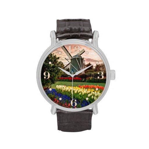 Festival del tulipán relojes