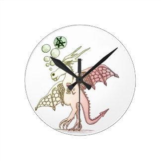 festival dragon round clock