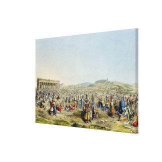 Festival en Atenas, pub. por J. Rodwell, 1830 (agu Impresion De Lienzo