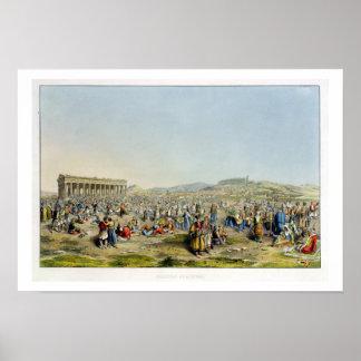 Festival en Atenas, pub. por J. Rodwell, 1830 (agu Póster