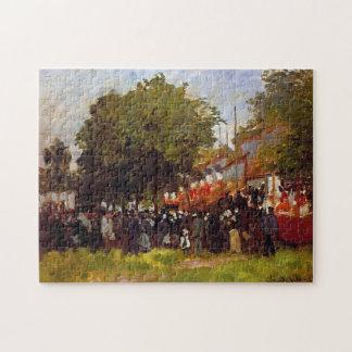 Festival en la bella arte 1872 de Argenteuil Monet Rompecabeza