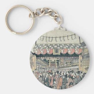 Festival en Shiba por Tamagawa, Shucho Llaveros Personalizados