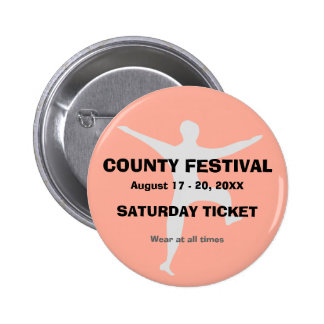 Festival Event Admission Ticket Button Badge 2