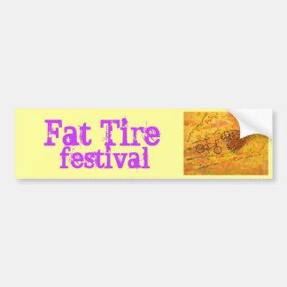 festival gordo del neumático pegatina para auto
