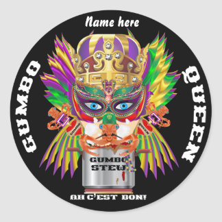 Festival Gumbo Queen View Hints please Classic Round Sticker
