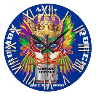 Festival Gumbo Queen View Hints please Wall Clock