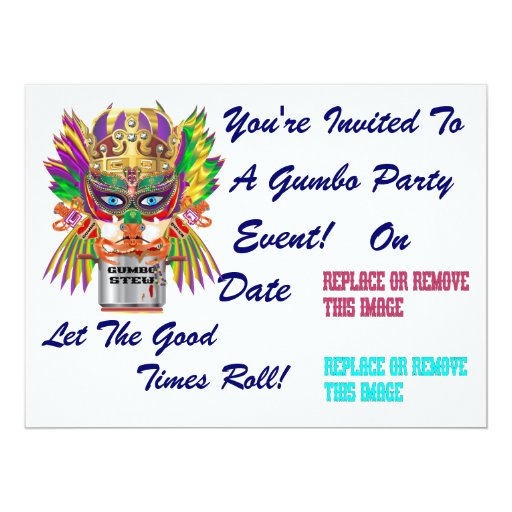 Festival Gumbo Queen View Hints please 6.5x8.75 Paper Invitation Card