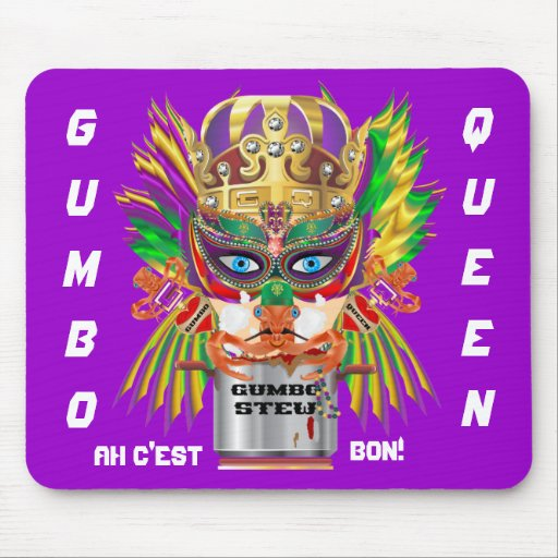 Festival Gumbo Queen View Hints please Mouse Pads