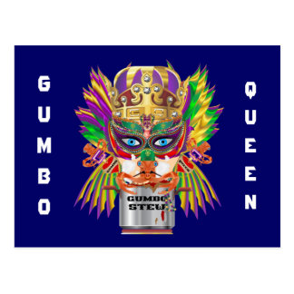 Festival Gumbo Queen View Hints please Post Card