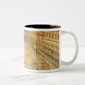 Festival in Honour of Queen Christina Two-Tone Coffee Mug