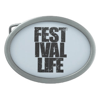 FESTIVAL LIFE (blk) Belt Buckle