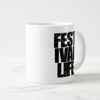 FESTIVAL LIFE (blk) Large Coffee Mug