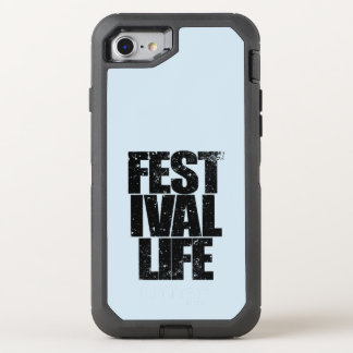 FESTIVAL LIFE (blk) OtterBox Defender iPhone 7 Case