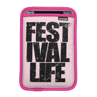 FESTIVAL LIFE (blk) Sleeve For iPad Mini